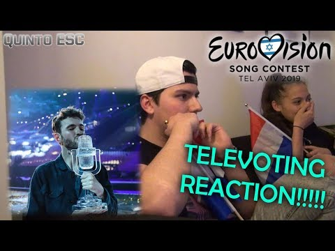 Eurovision 2019 Televoting Live Reaction - Quinto ESC