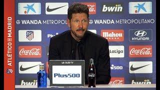 Simeone, Vitolo y Godín analizan el triunfo ante el Athletic Club