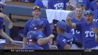 Luken Baker 3 Run Home Run TCU Horned Frogs vs Texas Tech 2016 CWS Game 3