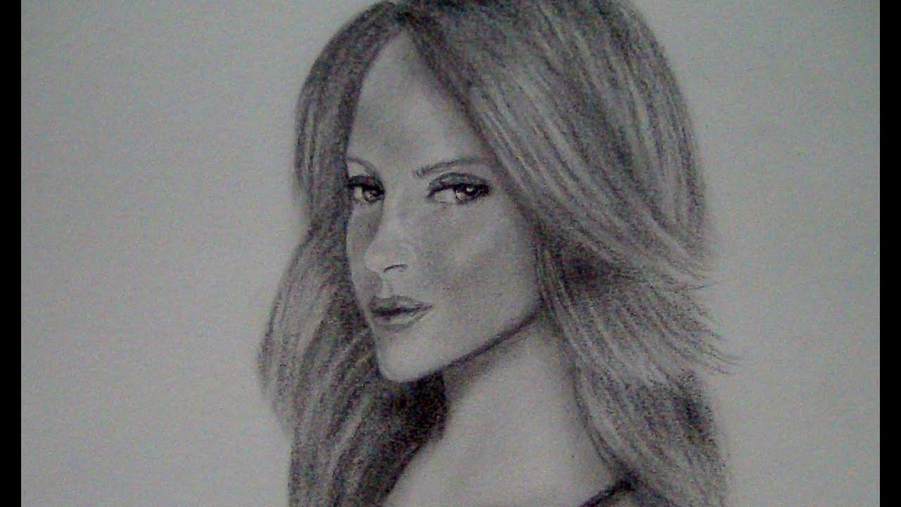 CMO DIBUJAR UN ROSTRO EN 34 Dibujando rostro de mujer  YouTube