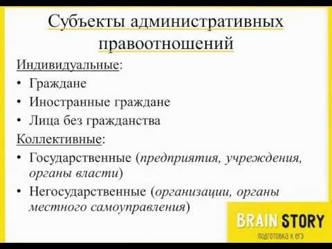 7 16 3  Субъекты административных правоотношений