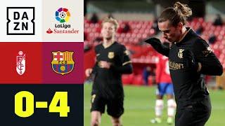 Griezmann beendet Torflaute - auch Messi doppelt genial: Granada - FC Barcelona 0:4 | LaLiga | DAZN