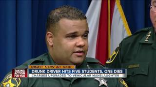 Drunk driver hits five students, one dies