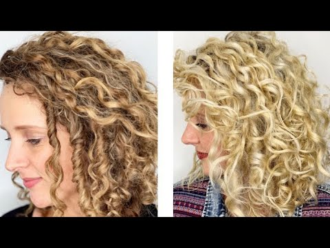 Brunette To Blonde In One Session On Curly Hair