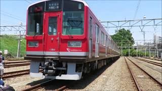 小田急 海老名電車基地にいた赤い小田急