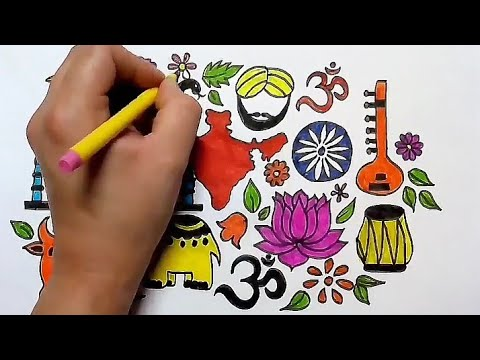 heritage india drawing || World heritage day drawing || विश्