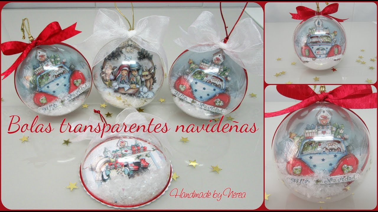 Bolas transparentes navide as dayka dulce navidad youtube - Bolas navidad transparentes ...