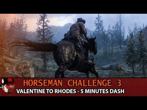 Horseman Challenge 3  Guide - Valentine to Rhodes (5 Minutes Dash) Red Dead Redemption 2