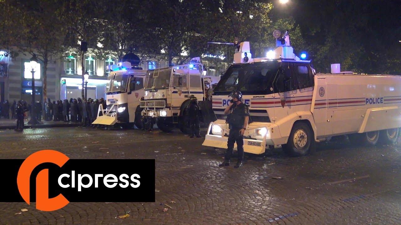 Finale du Mondial 2018 : La fête se transforme en violents débordements (15 juillet 2018, Paris)
