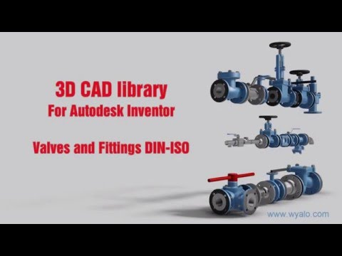 Inventor 3D CAD Library - Valves And Fittings DIN-ISO
