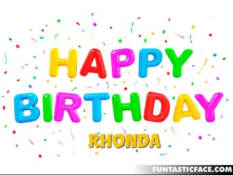 Happy birthday rhonda images