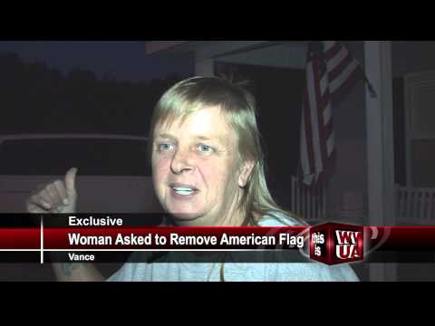 Woman Asked To Remove American Flag