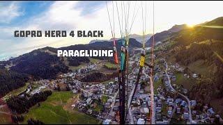 GoPro Hero4 Black First Paragliding in 4K MONT BLANC VIEW