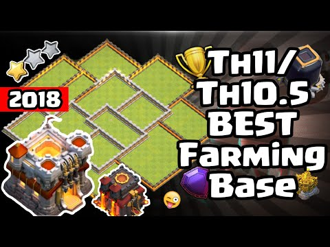 NEW TH11/TH10.5 BEST FARMING BASE (TESTED) + Replays | Clash Of Clans 2018 [60FPS]