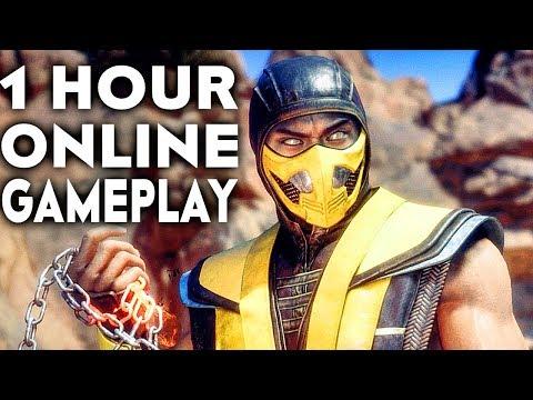MORTAL KOMBAT 11 GAMEPLAY Online Beta 1 HOUR #1 (No Commentary) thumbnail