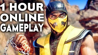 MORTAL KOMBAT 11 GAMEPLAY Online Beta 1 HOUR #1 (No Commentary)