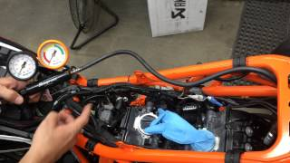 Performing A Basic Leakdown Test On A 2014 Ktm 1190 Adventure That Sucked Some Dust