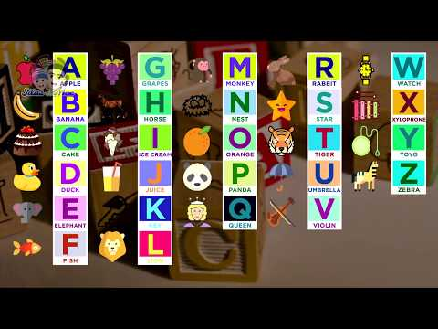 Alphabet song (ABC SONG) with Interactive images and sing along lyrics for kids easy learning