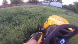 First cut with the new lawn tractor