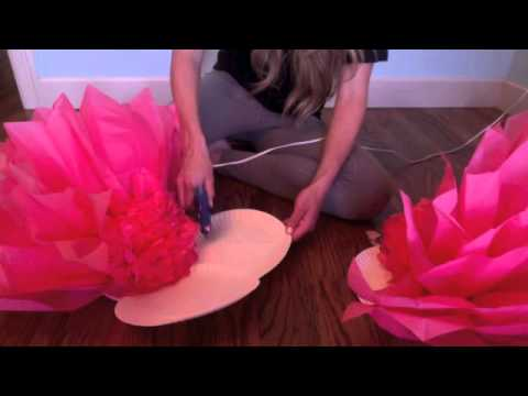 Giant Tissue Flower Tutorial Youtube
