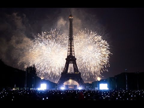 Paris New Year Celebration Fireworks Full HD | France New Year's Eve | Eiffel Tower | 4K