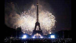 Paris New Year Celebration 2019 Fireworks Full HD | France New year's Eve | Eiffel Tower | 4K