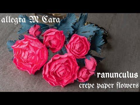 706 DIY Paper Flowers Ranunculus/ Pro Paper Craft Tutorial