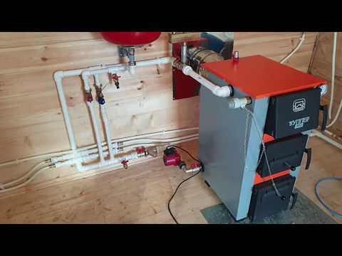 Простая и недорогая схема отопления Каркасного дома без газа.