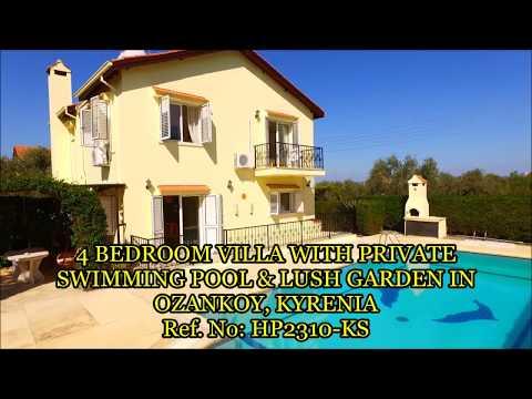 HP2310 KS 4 BEDROOM VILLA WITH PRIVATE SWIMMING POOL & LUSH GARDEN OZANKOY, KYRENIA