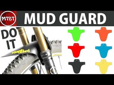 Making marsh guard mtb mud front fender mud guard tutorial do it at low cost template  parafango MTB