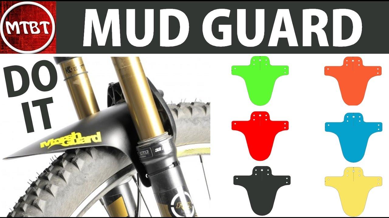 Making Marsh Guard Mtb Mud Front Fender Mud Guard Tutorial Do It At