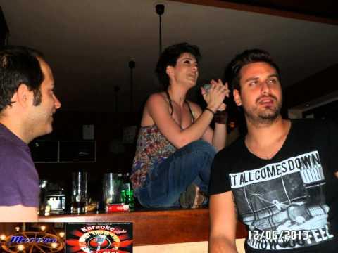 Karaoke party show dj mix sto Moreno Cafe Καλλιθεα Τριτη 11 6 13