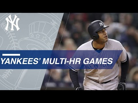 Yankees' multi-home run games in 2018