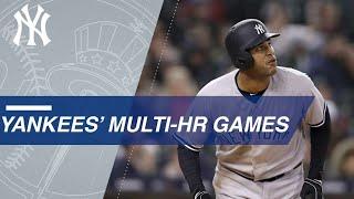 Yankees' multi-home run games in 2018