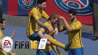 EA- FIFA 16 GAMEPLAY - FC BARCELONA vs PSG (No Commentary) FIFA 16 DEMO [ PS4 / XBOX ONE]