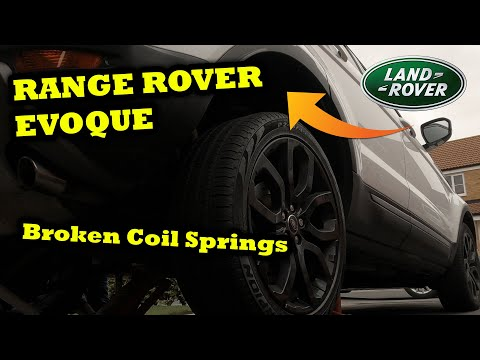Land Rover Evoque Rear Coil Spring Replacement Removal Install 2013 SD4 [DiY / HOW TO]