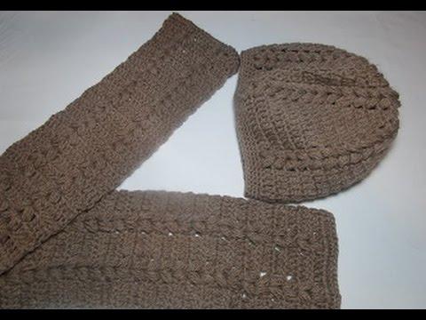 Crochê Cachecol com Gorro cachecol Crochê grafico - YouTube ef072950918