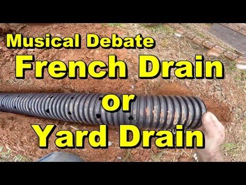Yard Drain or French Drain