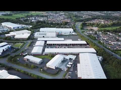Jackson Auto Repairs Drone Flying Showing Lisburn