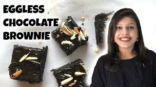 Eggless Chocolate Brownie  Easy Brownie With Kirti Bhoutika