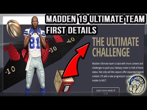 MADDEN NFL 19 ULTIMATE TEAM FIRST DETAILS: Building Your Upgradeable Legend Details Explained