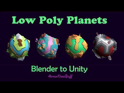 Low Poly Planets | Blender to Unity