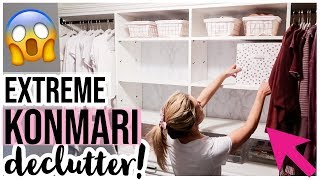 CLEAN WITH ME 2019 | ULTIMATE KONMARI DECLUTTER + EXTREME CLOSET MAKEOVER! Brianna K