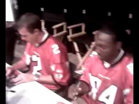 Matt Ryan Keith Brooking Roddy White Atlanta Falcons