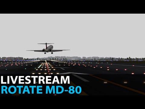 [Livestream] Traffic Jam at La'Guardia, Rotate MD-80, VATSIM FNO ✈️ 2017-03-31