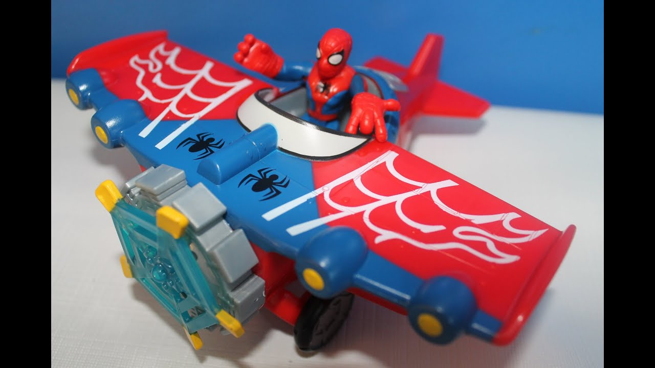 Spider Man Stunt Wing Spider Plane Youtube
