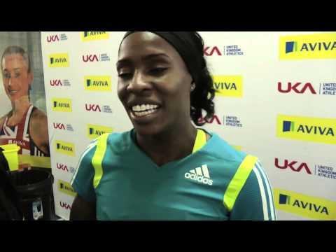 Marilyn Okoro, winner of the 800m @ the UK indoor championships