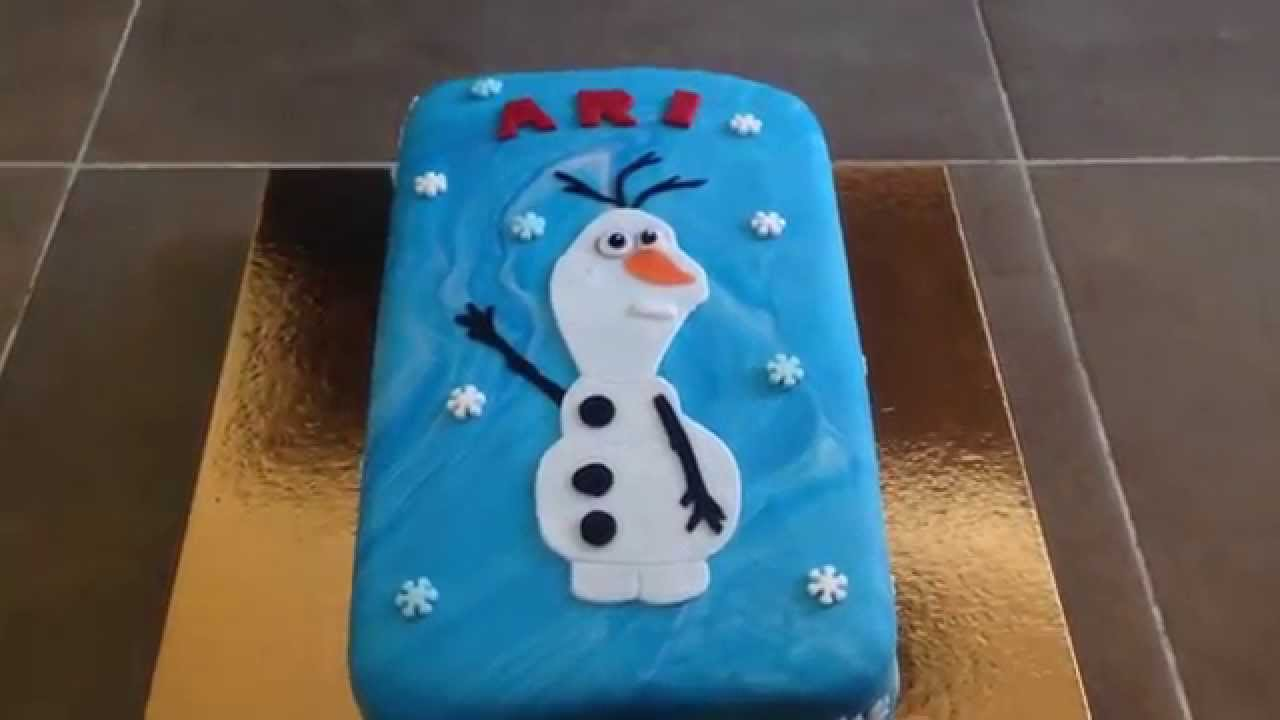 How To Make A Snowman Cake From Frozen