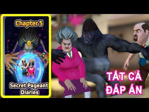 Hướng dẫn chơi game Scary Teacher 3D - Chapter 5 - Secret Pageant Diaries Tất cả đáp án