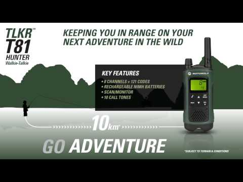 Motorola Solutions TLKR T81 Hunter Walkie-Talkie Consumer Radio